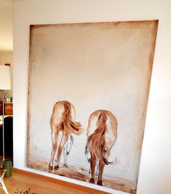 großes gemälde mit Pferden