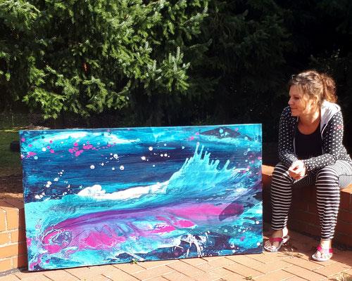 Künstlerin und Bild