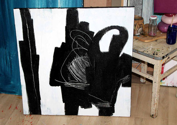 weiss schwarz bild im Atelier
