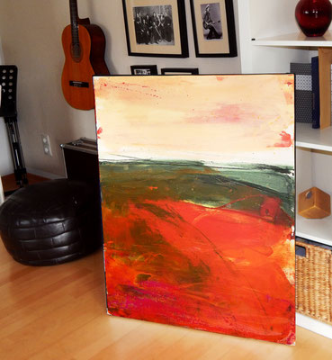 rot orange beige Landschaft