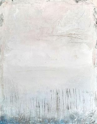 weiße abstrakte Gemälde für Büro - Wohnzimmer - Flur
