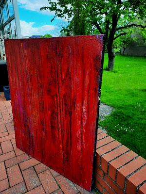 rote gemalte Acrylbilder