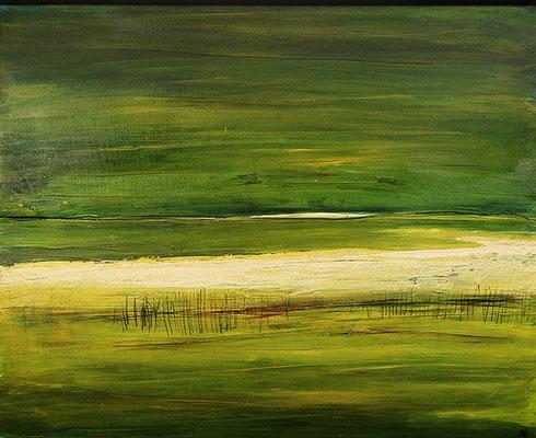 grünes abstraktes Landschaftsbild