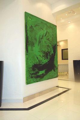 Grünes großes Gemälde