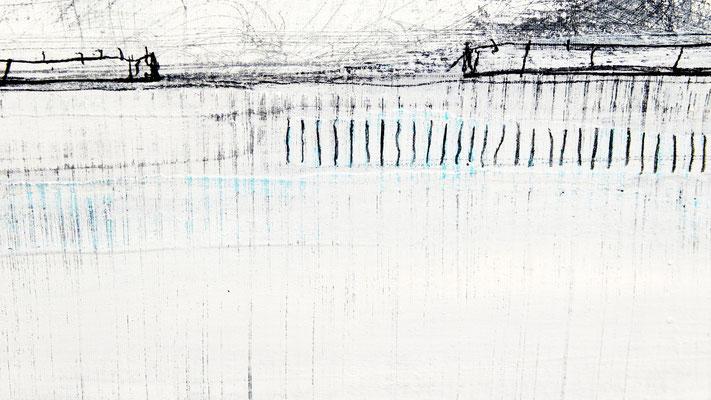abstrakte Malerei weisses Bild