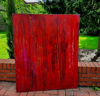 rotes Bild starke Struktur