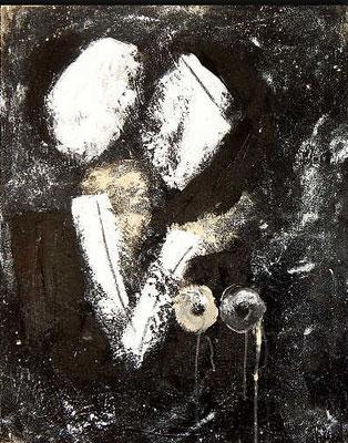 schwarz weiß gemälde abstrakt nr 75