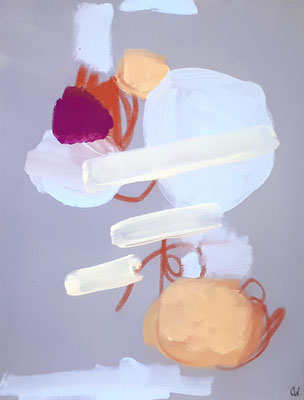 abstraktes Bild Grau Pastell