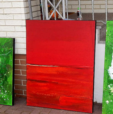 rote grüne bilder hof