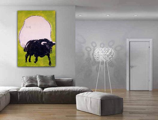 bild mit Stier gemalt