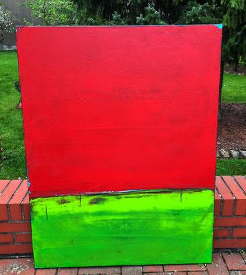 abstrakte rote Landschaft