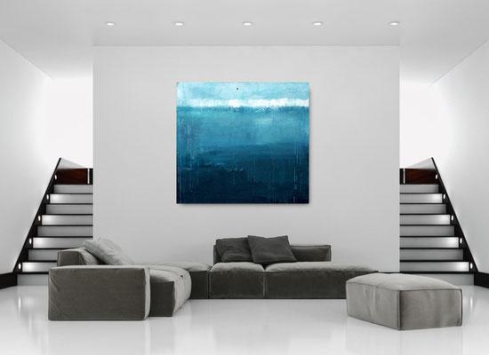 blaues großes Bild