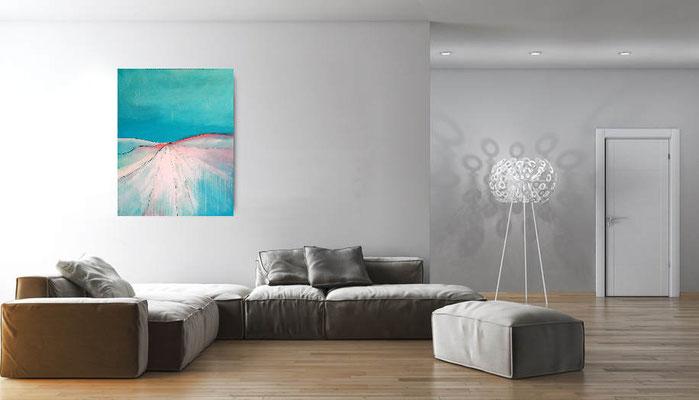 abstrakte Bilder hellblau