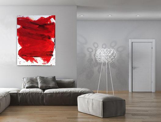 acrylbild rot