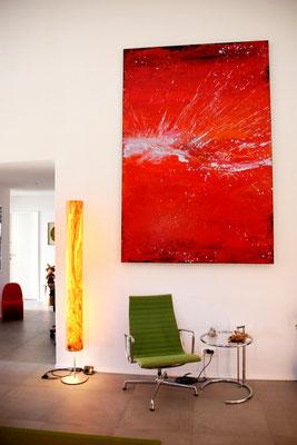 rote große Bilder als Auftragsmalerei