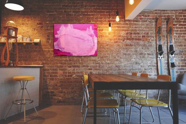 Kunst bild Malerei Pink