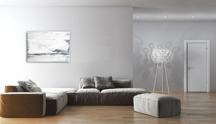graues Gemälde