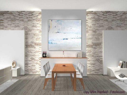 weißes abstraktes Bild