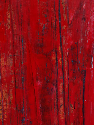 detail - Bild rot abstrakt Strukur modern