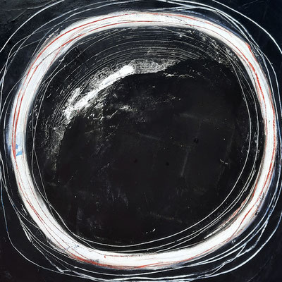 Abstraktes Bild in schwarz weiss