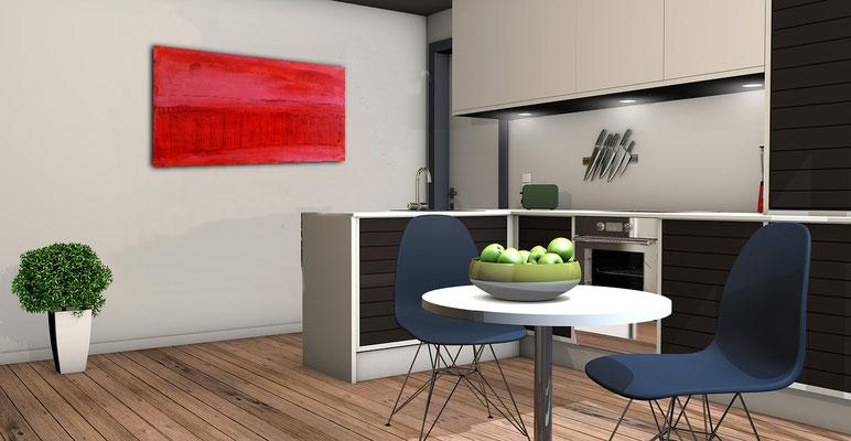 rotes Bild für Küche