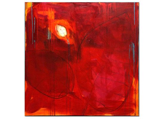 rotes Bild xxl abstrakt für Wohnzimmer - Flur - Eingangsbereich