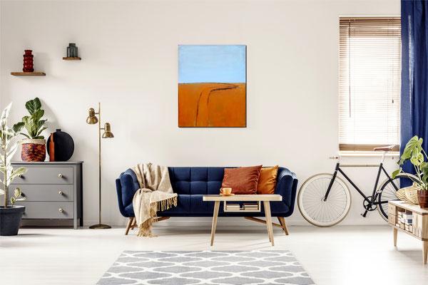 Gemälde orange Raum