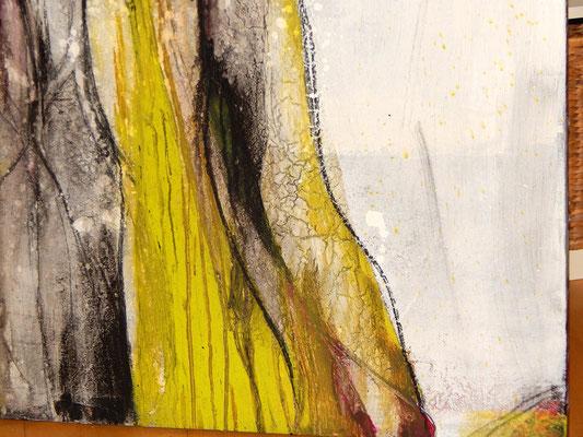 abstrakte Malerei  Gemälde weiss