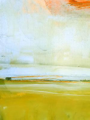 abstrakte Malerei Bild grün gelb blau
