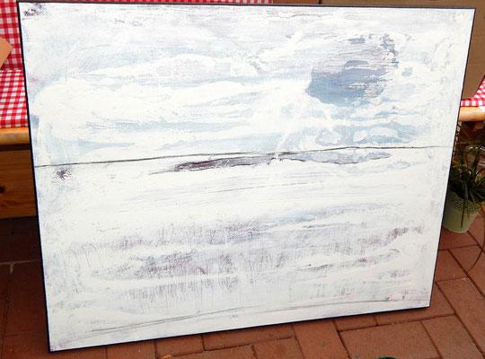 abstrakte Malerei Bild weiss