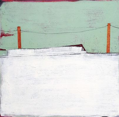 Acrylbild mit Landschaft