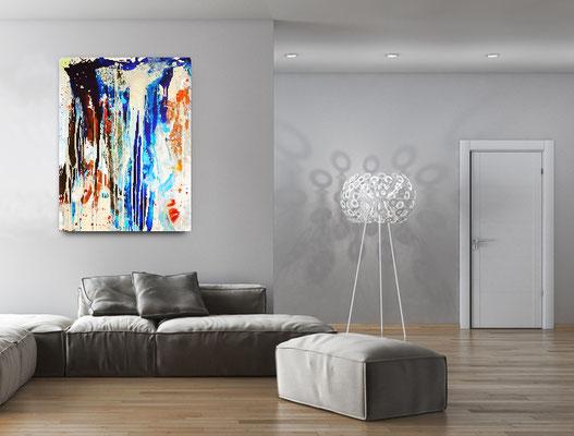 blaues Bild Gemälde