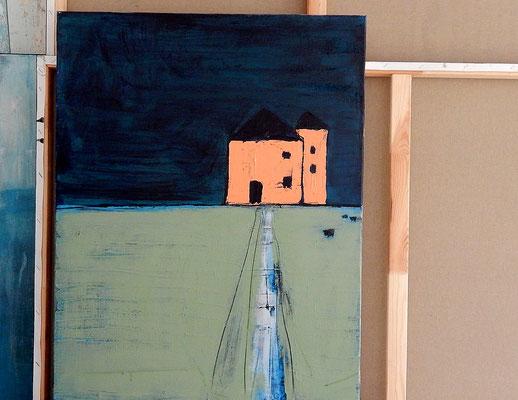 abstrakte Bilder blau grün