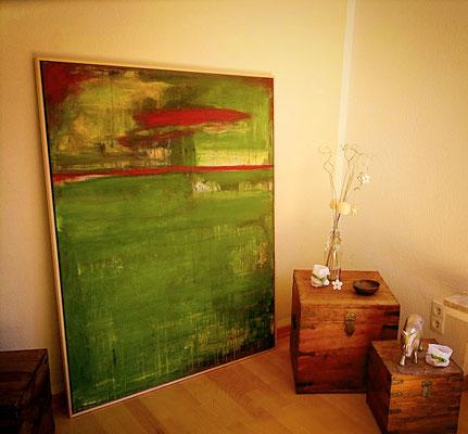 grünes abstraktes Bild