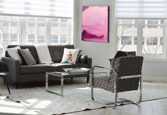 wohnzimmer lila Bild