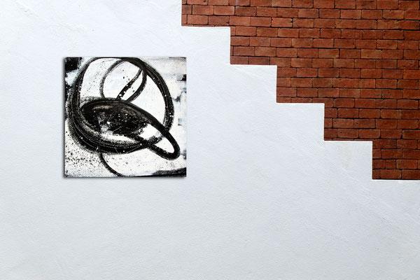 schwarz weißes Gemälde