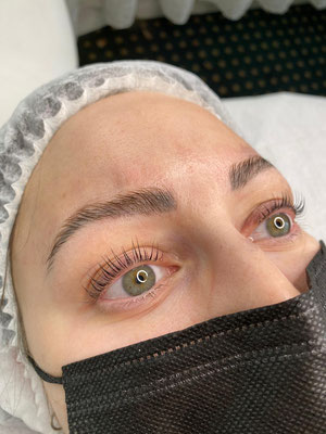 Lashes & Brows Lifting, Endergebnis