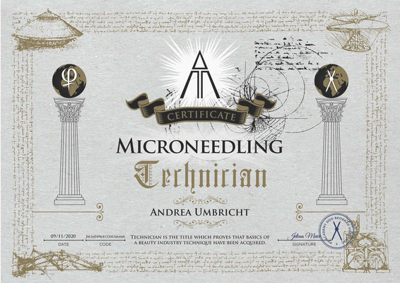 Microneedling, Zertifikat Phi Academy