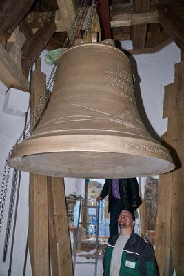 20.03.2017 neue Glocken sind in der Glockenstube angekommen