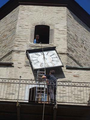 Abbau der Uhr am  6. September 2016