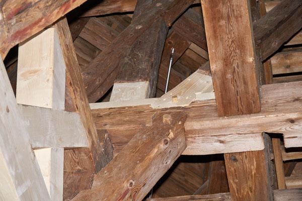 11.02.2017 neue Balken über der Glockenstube