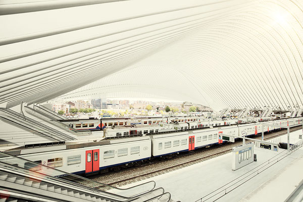 Liège Trainstation by Berthold Litjes