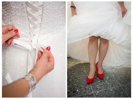 Brautkleid, Brautschuhe, Hochzeitsvorbereitungen, Gaby Ahnert, Bremen