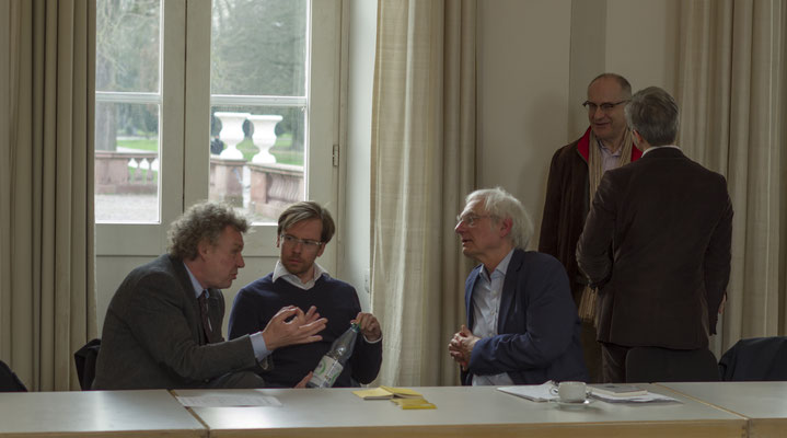 Hans-Peter Schütt, Gregor Betz, Dieter Birnbacher, Markus Stepanians, der Rücken von Michael Schefczyk.