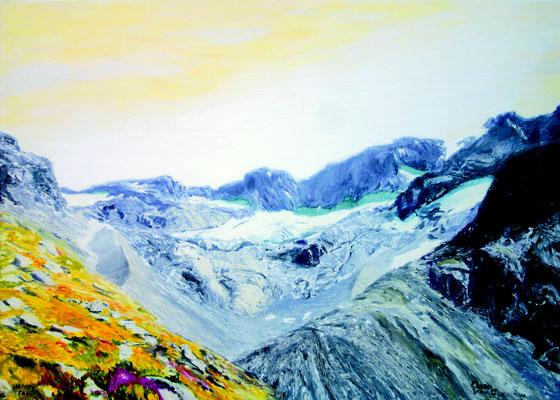 Vadrec dal Cantun  Öl auf Leinwand  100 x 140 cm