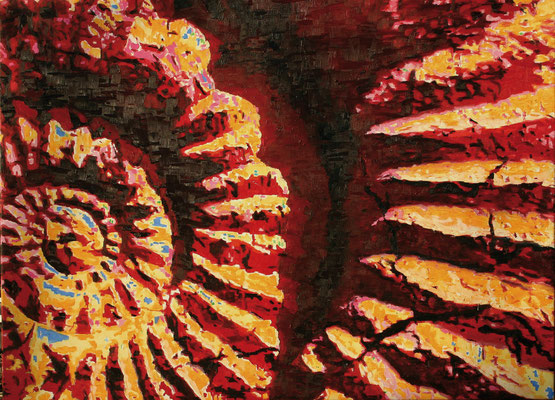"""Ammonite crack"" | Oel auf Leinwand | 100 x 140 cm"