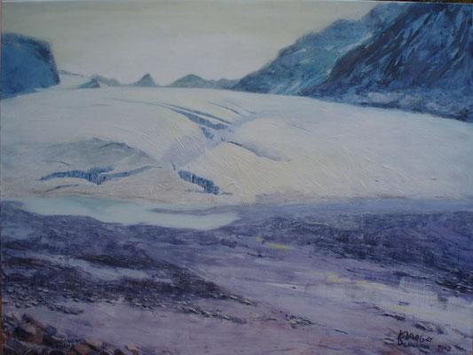 Vadrec dal Forno blau  Öl auf Leinwand blau  120 x 160 cm