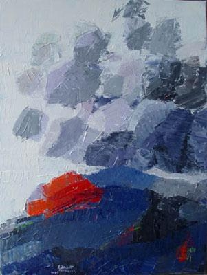 """Eisrand"" | Oel auf Leinwand | 70 x 60 cm"