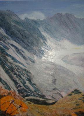 Glacier Albigna I Öl auf Leinwand  70 x 50 cm
