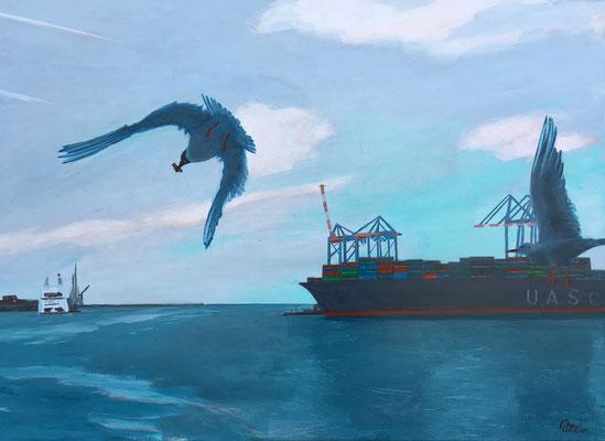 """Seaside I"" | Mischtechnik auf Leinwand | 100 x 140 cm"